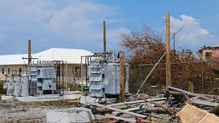Damage in the aftermath of Hurricane Dorian on the Great Abaco island town of Marsh Harbour, Bahamas, September 4, 2019.