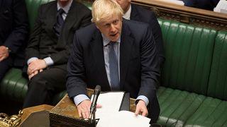 Britain's Prime Minister Boris Johnson speaks during debate in the House of Commons in London, Britain September 4, 2019