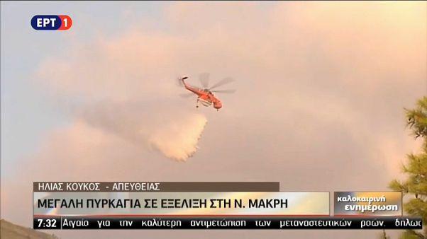 Grecia: due incendi (dolosi) nell'Attica