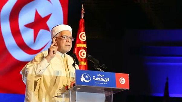 الشيخ عبد الفتاح مورو أثناء تجمع انتخابي في تونس العاصمة 30-08-2019