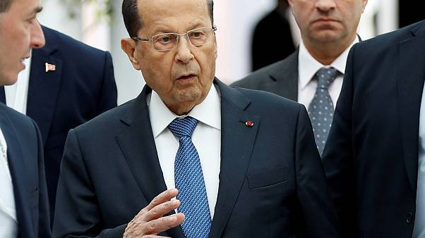الرئيس اللبناني ميشلل عون خلال القمة العربية في تونس في آب/أغسطس الماضي
