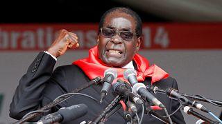 Mugabe bei Feierlichkeiten zu seinem 90. Geburtstag in Marondera, 2014