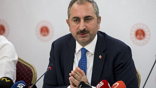 Adalet Bakanı Abdulhamit Gül, Dikmen Hakimevi'nde yargı muhabirleri ile bir araya geldi. ( Utku Uçrak - Anadolu Ajansı )