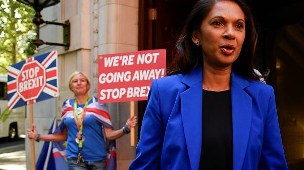 Lawyer Gina Miller leaves radio and television studios in London