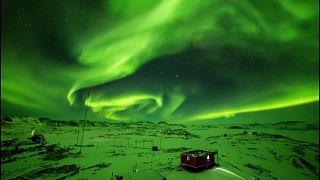 Polarlicht in der Antarktis