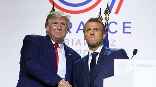 امانوئل ماکرون و دونالد ترامپ، روسای جمهوری فرانسه و آمریکا