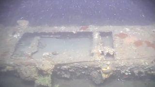 Birinci Dünya Savaşı'nda İstanbul ve İzmit'i topa tutan, Nara Burnu açıklarında batan İngiliz denizaltısı E7'nin 80 metre derinlikteki enkazı