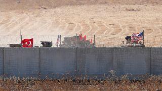 دورية تركية أمريكية مشتركة شمالي سوريا قرب مدينة أقجه قلعة التركية