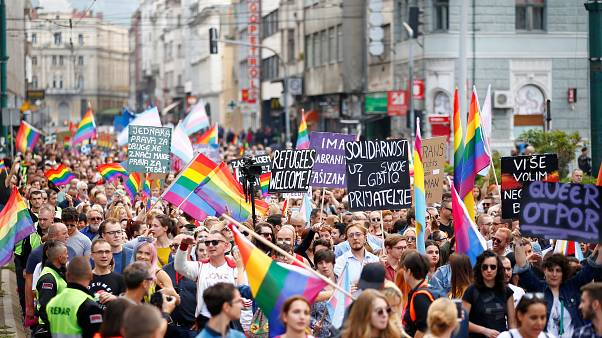 Watch back: Sarajevo hosts first gay pride amidst security concerns
