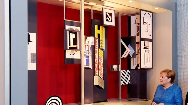 Merkel im Bauhaus-Museum