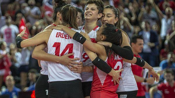 Türkiye A Milli Kadın Voleybol Takımı, Avrupa ikincisi oldu