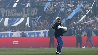 Argentina's football legend Diego Maradona makes comeback as new coach of La Plata's Gimnasia club