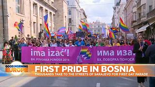 Bosnians hold first gay pride parade amid strong police protection