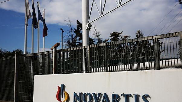 To κτήριο των γραφείων της πολυεθνικής φαρμακευτικής εταιρείας NOVARTIS στην Αθήνα