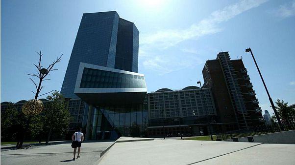 ساختمان بانک مرکزی اروپا واقع در فرانکفورت آلمان