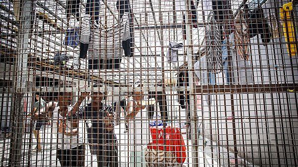 Migranten in Tarik Sika