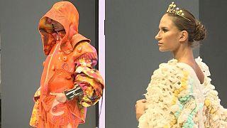 WATCH | Jelly Tot tiaras and statement bracelets at Graduate Fashion Week