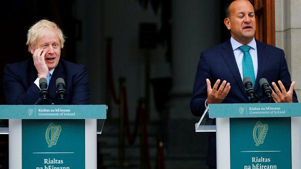 İngiltere Başbakanı Boris Johnson Dublin'de İrlanda Başbakanı Leo Varadkar ile görüştü