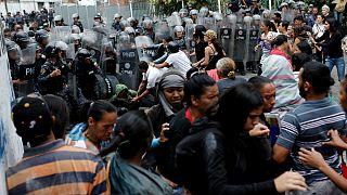 درگیری پلیس با معترضان در ونزوئلا