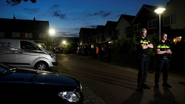 Police secure the area after a shooting in the Dutch city of Dordrecht, Netherlands September 9, 2019.