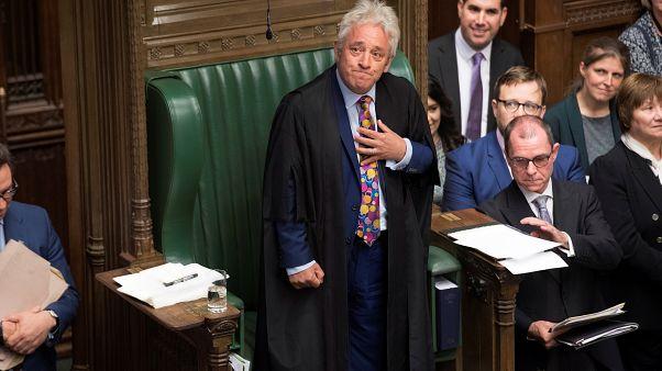 John Bercow, presidente de la Cámara de los Comunes, en la última sesión