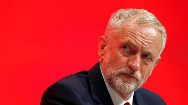 The Leader of Britain's opposition Labour Party, Jeremy Corbyn listens to a speech on the first day of the Labour Party conference, in Liverpool, Britain September 25, 2016.