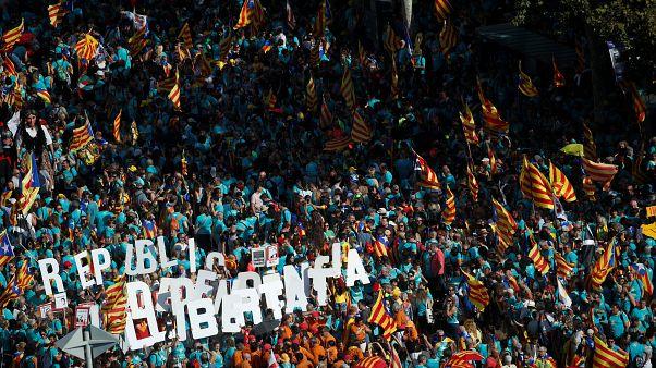 Diada 2019 | La manifestación de la división interna del secesionismo catalán