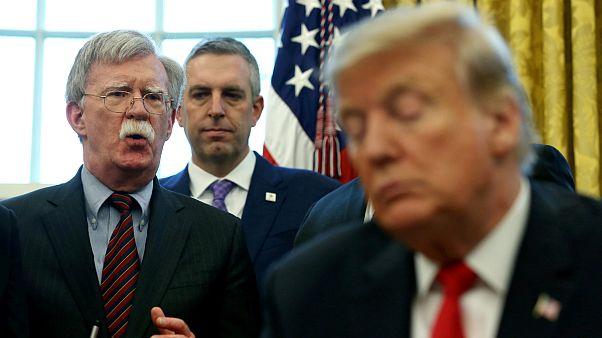 دونالد ترامپ رئیس جمهوری آمریکا و جان بولتون مشاور امنیت ملی کاخ سفید