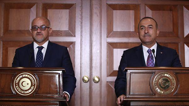 Dışişleri Bakanı Mevlüt Çavuşoğlu ile Karadağ Dışişleri Bakanı Srdjan Darmanovic ( Cem Özdel - Anadolu Ajansı )