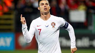 Cristiano Ronaldo: poker di gol. (Vilnius, 10.9.2019)