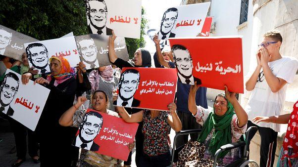 متظاهرون تونسيون يطالبون بالإفراج عن القروي