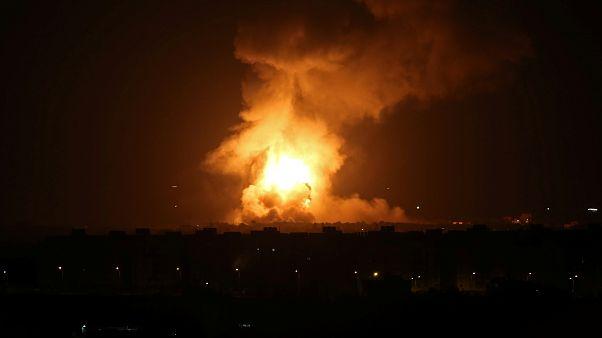 فيديو: قصف إسرائيلي على غزة ردا على إطلاق صواريخ من القطاع