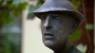 The statue was designed by famous Lithuanian sculptor Romualdas Kvintas