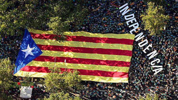 600.000 Katalanen fordern Abspaltung von Spanien
