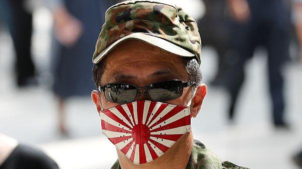 Japonya'nın imparatorluk döneminde kullandığı Yükselen Güneş Bayrağı