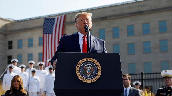 ترامب ملقيا كلمة بمناسبة الذكرى الثامنة عشر لهجمات 11 أيلول/سبتمبر الإرهابية