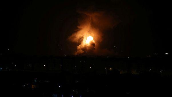 استمرار القصف الإسرائيلي على غزة لليوم التاني على التوالي