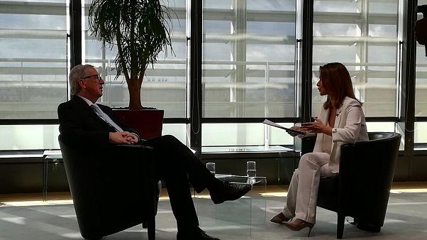 Ο Ζαν Κλωντ Γιούνκερ μιλά στην Έφη Κουτσοκώστα