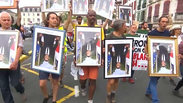 مظاهرة في مدينة باريس احتجاجا على سياسة فرنسا تجاه أزمة المناخ