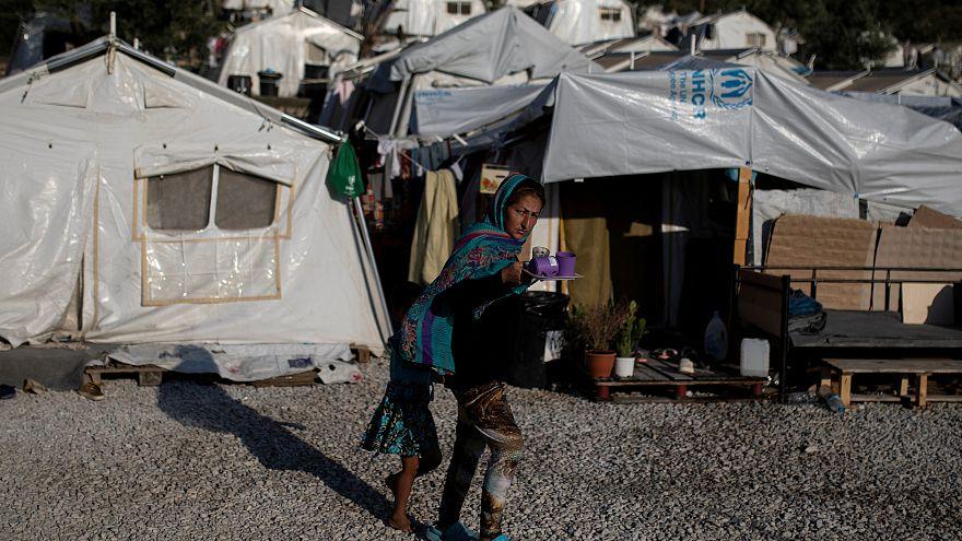 Le camp de réfugiés de Moria (Lesbos, Grèce), le 01/09/2019