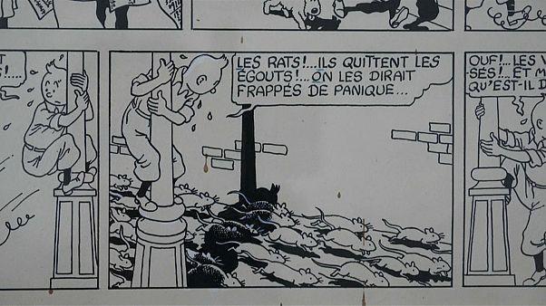 """Tintin : une planche de """"L'étoile mystérieuse"""" aux enchères le 18 septembre"""