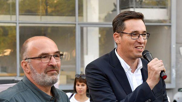 Pikó András nyolcadik kerületi polgármesterjelölt és Karácsony Gergely főpolgármesterjelölt