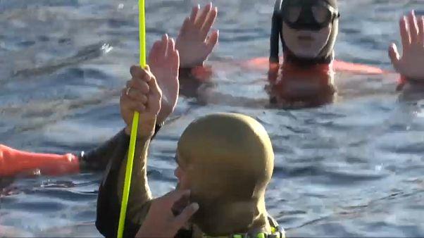 Freediving: Alexey Molchanov a 118 metri sott'acqua