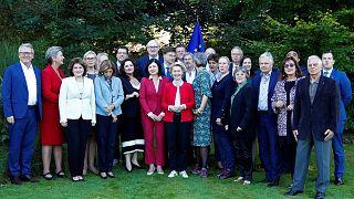 Ursula Von der Leyen et son équipe. Genval, Belgique, le 12 septembre 2019