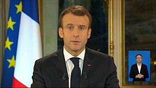 France's President Emmanuel Macron addresses nation after weeks of street violence