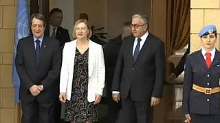 Greek and Turkish-Cypriot leaders discuss a resumption of peace talks