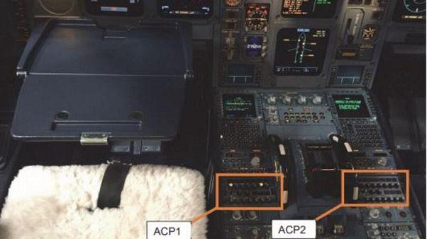 Beispielfoto der beschädigten Audio Control Panels