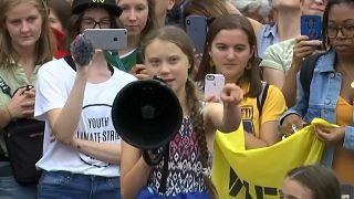 """Greta Thunberg in Washington: """"Gebt nie auf!"""""""