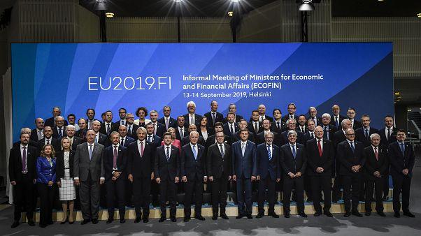 Les ministres des Finances de l'UE à Helsinki le 13 septembre.