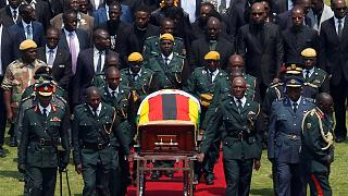 Robert Mugabe gyászszertartása